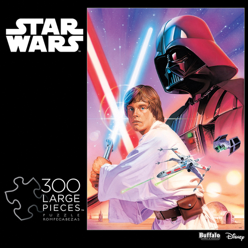 Star Wars: Luke Skywalker And Darth Vader Puzzle (300 Large Pieces) Box Front