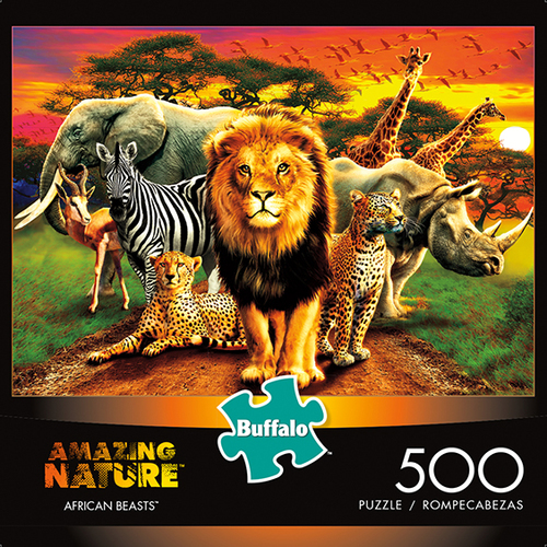 Amazing Nature: African Beasts Puzzle (500 Pieces) Game Box