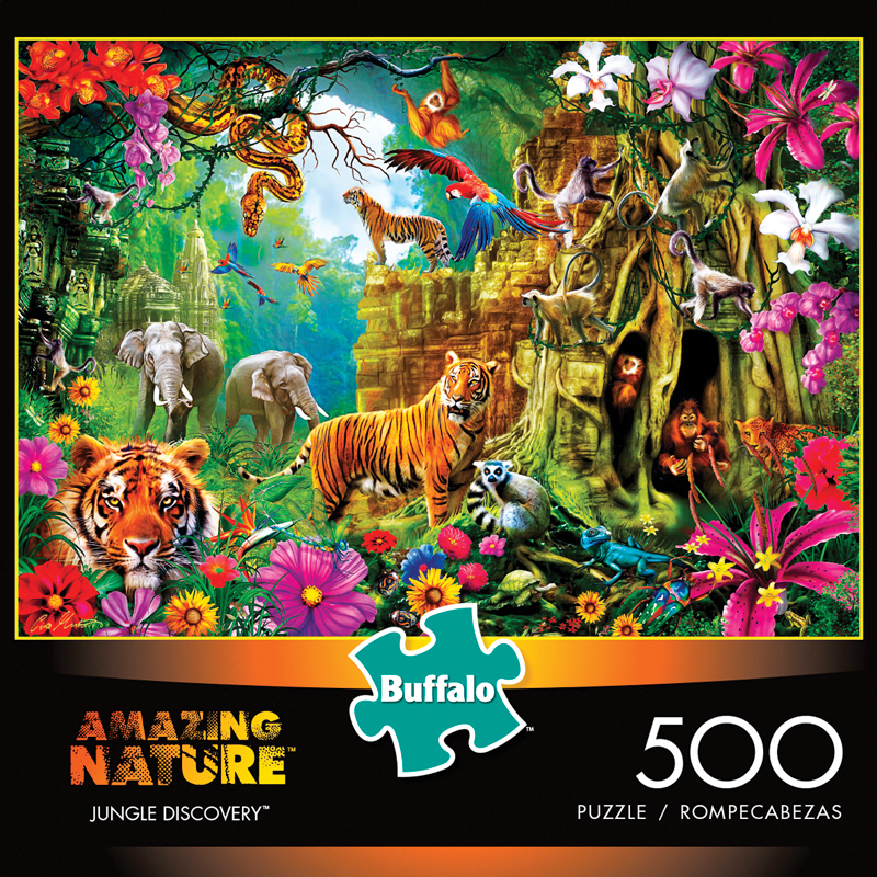 Amazing Nature: Jungle Discovery Puzzle (500 Pieces) Box Front