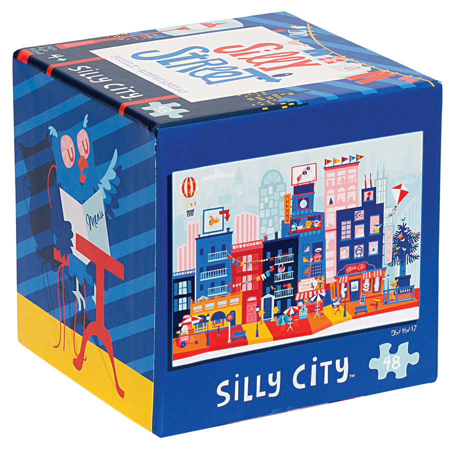 Silly Street: Silly City Puzzle (48 Pieces) Box Front