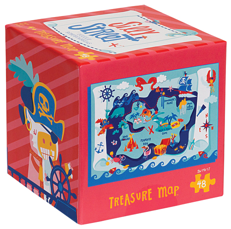 Silly Street: Treasure Map Puzzle (48 Pieces) Box Front
