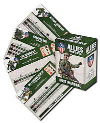 Dust Tactics: Allies Tactics Cards Box Front