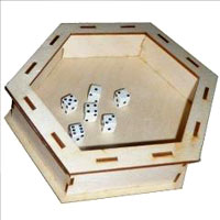Dice Tray: Hex Box Front