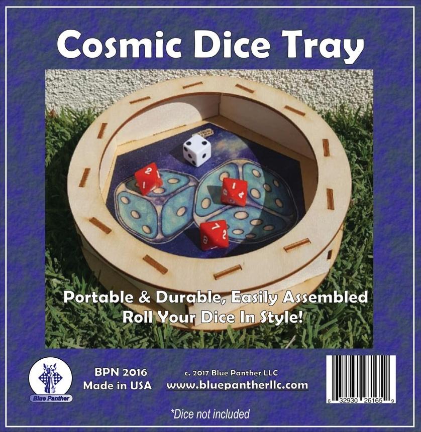 Dice Tray: Circular - Cosmic Box Front