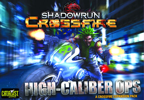 Shadowrun Crossfire Dbg: Mission Expansion Pack 1 - High Caliber Ops Box Front