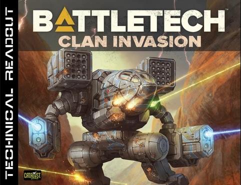 Battletech: Technical Readout Clan Invasion Game Box