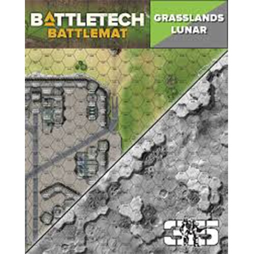 Battletech: Battle Mat - Grasslands Lunar