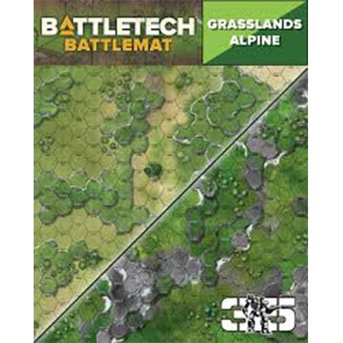 Battletech: Battle Mat - Grasslands Alpine