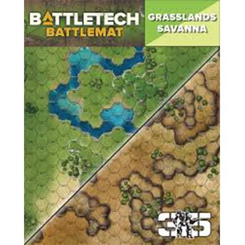 Battletech: Battle Mat - Grasslands Savanna