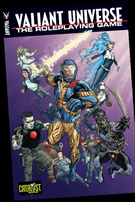 Valiant Universe Rpg: Core Rulebook Hardcover Box Front