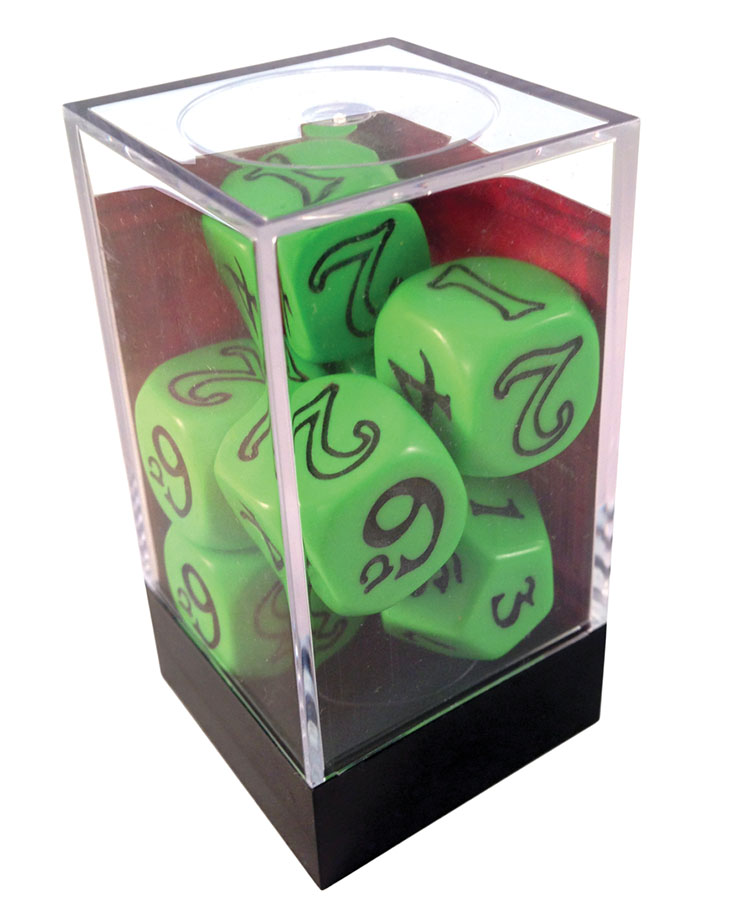 The One Ring Rpg: Dice Set (green) Box Front