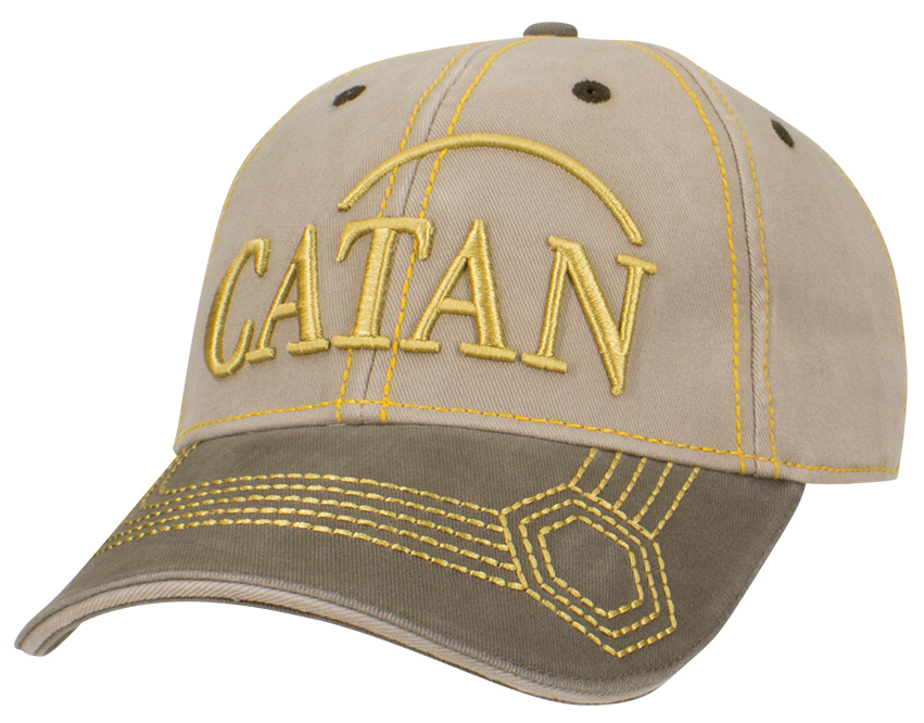 Catan: Baseball Hat, Embroidered - Wood Box Front