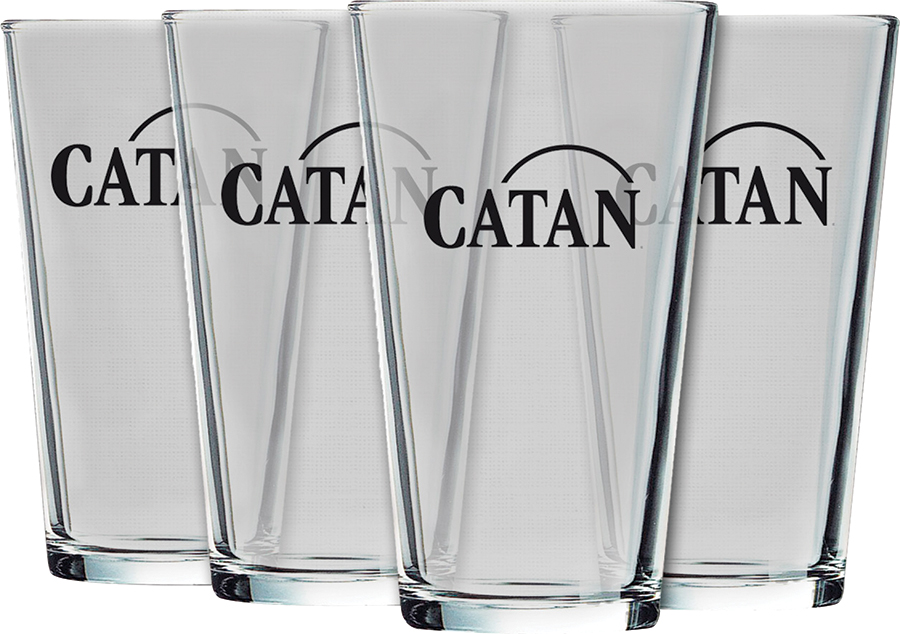 Catan: Glass Pint - Logo (set Of 4) Box Front