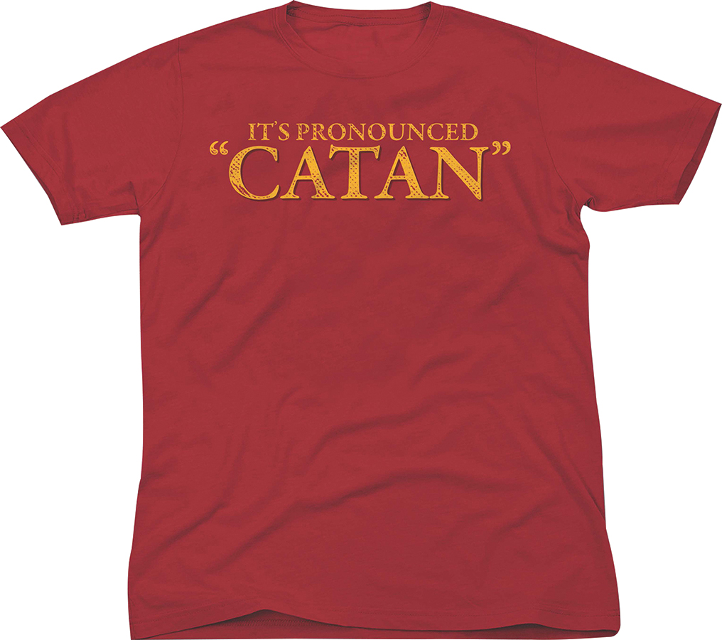 Catan: Adult T-shirt `it`s Pronounced Catan` - M Box Front