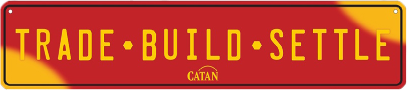 Catan: Metal License Plate - Euro Size Game Box