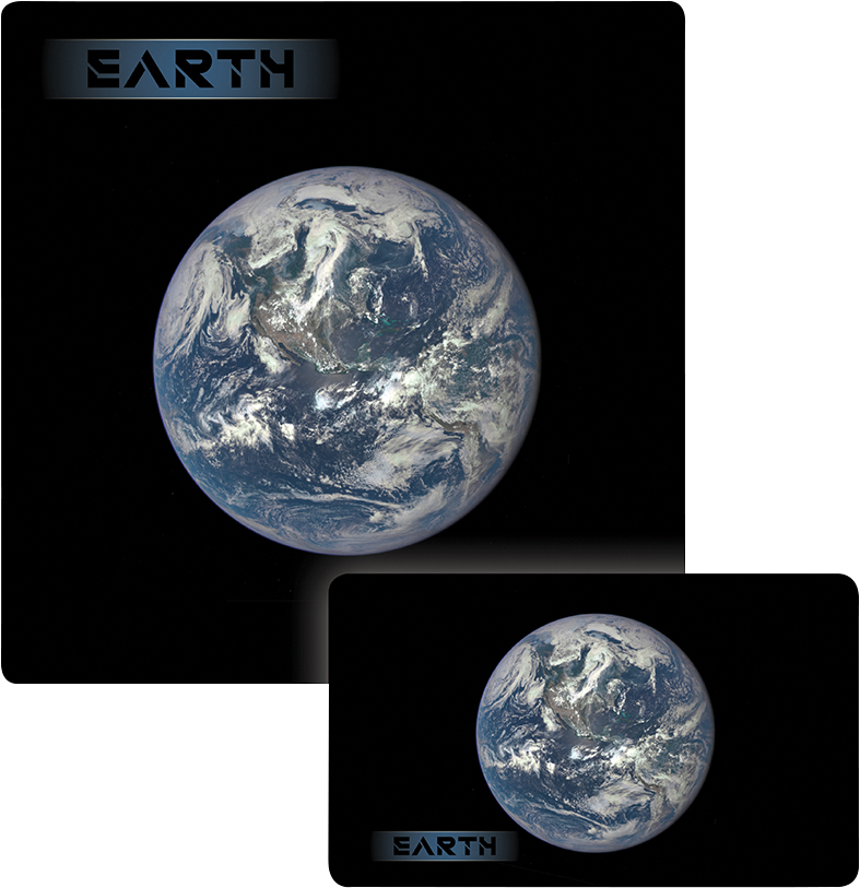 Galaxy Series Play Mat: Earth 14x24 Box Front