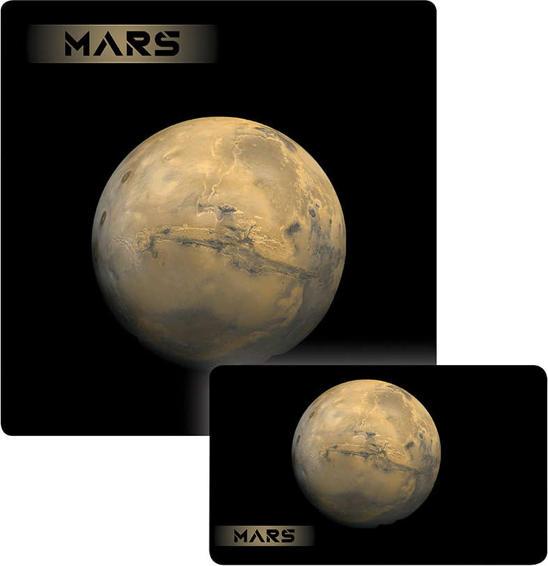 Galaxy Series Play Mat: Mars 14x24 Box Front