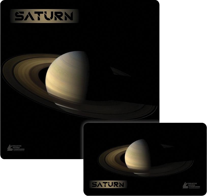 Galaxy Series Play Mat: Saturn 36x36 Box Front