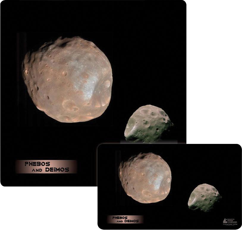 Galaxy Series Play Mat: Phobos Deimos 14x24 Game Box