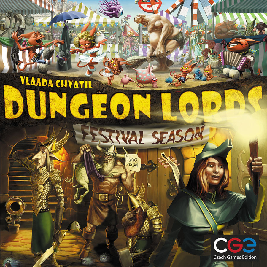 Dungeon Lords: Festival Season Expansion Box Front