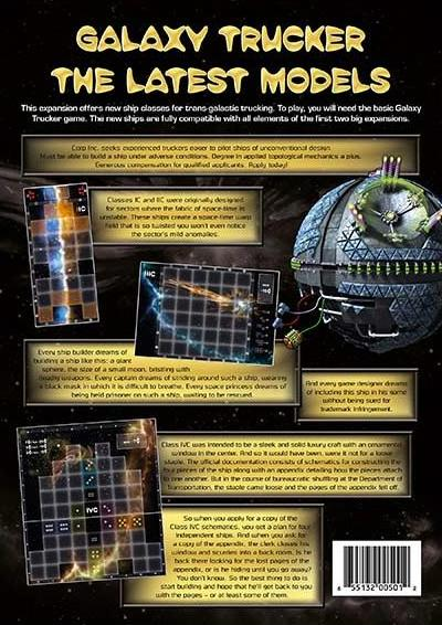 Galaxy Trucker: The Latest Models Expansion Box Front