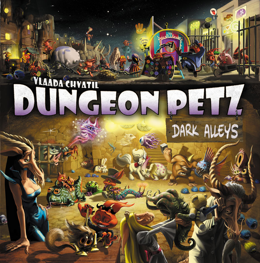 Dungeon Petz: Dark Alleys Expansion Box Front