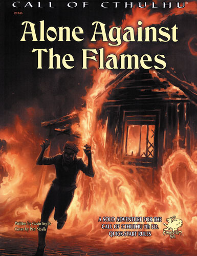 Call Of Cthulhu: Alone Against The Flames Softcover Box Front