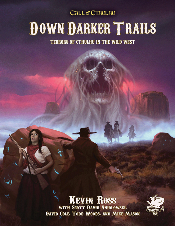 Call Of Cthulhu: Down Darker Trails - Terrors Of Cthulhu In The Wild West Hardcover Game Box