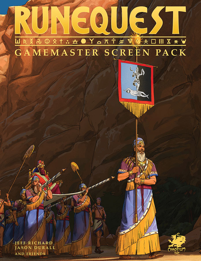 Runequest Rpg: Gamemaster Screen Pack Game Box