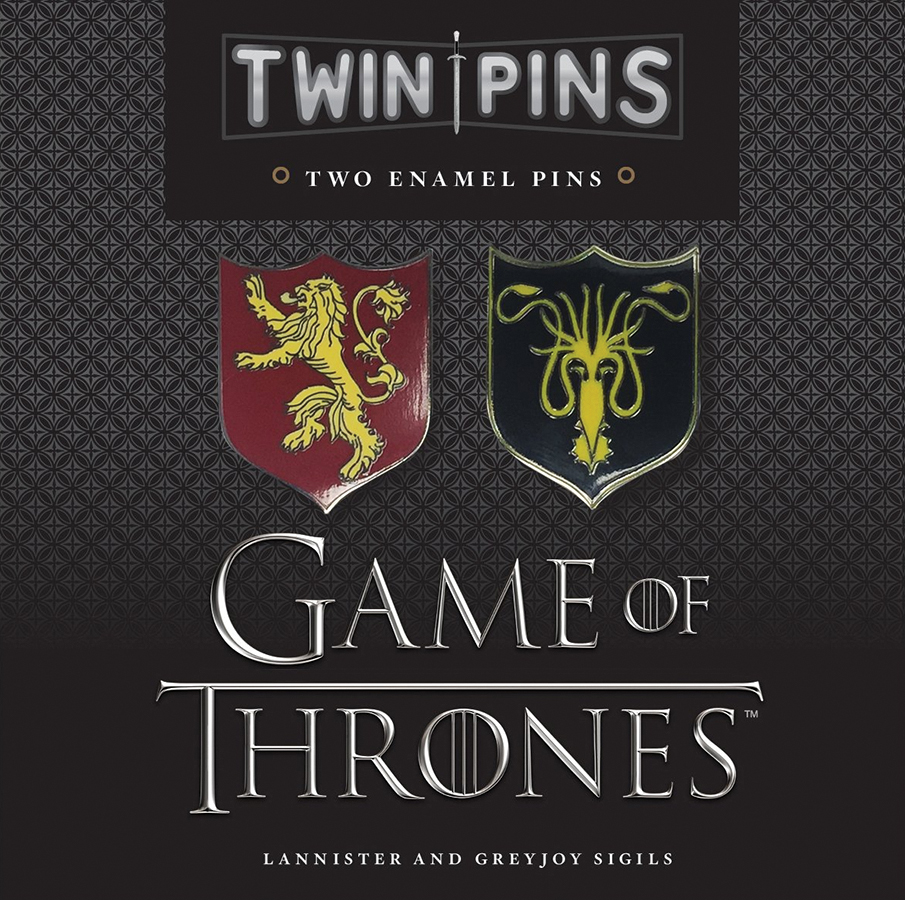 Game Of Thrones: Twin Pins - Lannister And Greyjoy Sigils Box Front