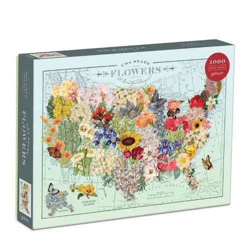Usa State Flowers Puzzle (1000 Piece)