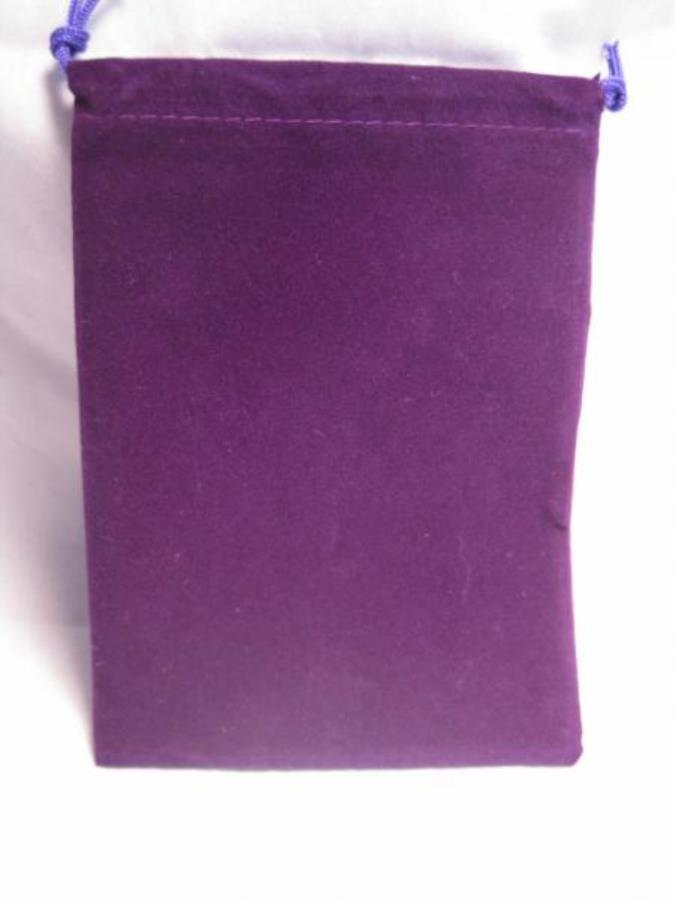 Purple Velour Dice Pouch (small)