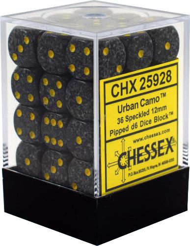 Speckled: Urban Camo 12mm D6 Block
