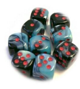 Gemini: 12mm D6 Black Shell/red (36) Limited Edition