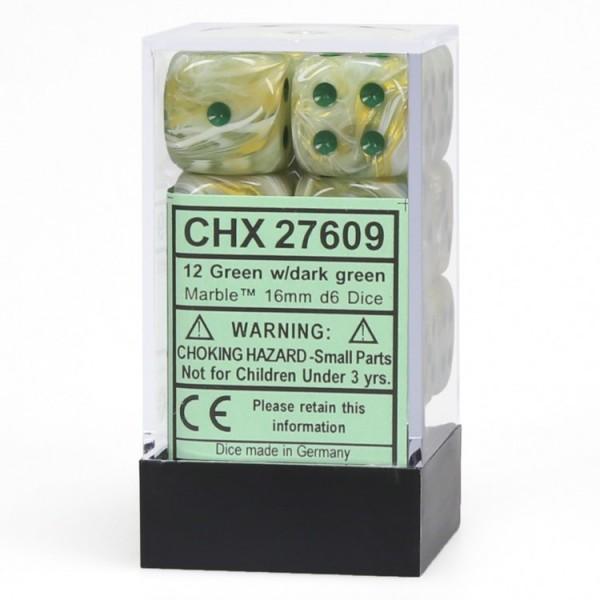 Dm8 16mm D6 Marble Green/dark Green (12)