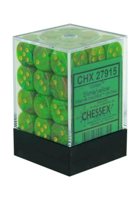 Dm9: Vortex 12mm D6 Slime Yellow (36)