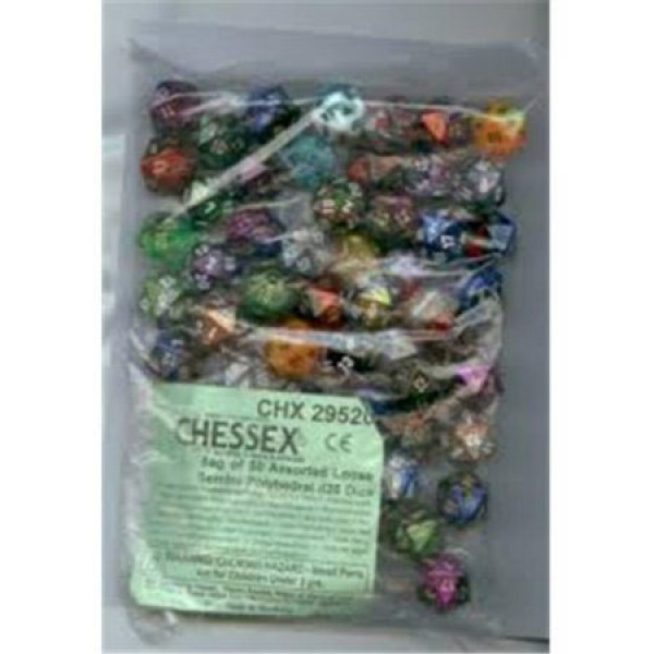 Gemini: Poly D20 Numbers Assorted Bag Of Dice (50)