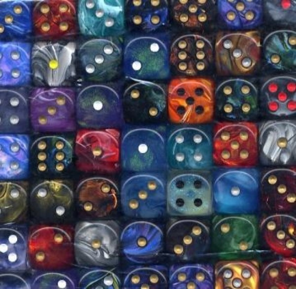 Gemini 16mm D6 With Pips Assorted Bag Of Dice (50)