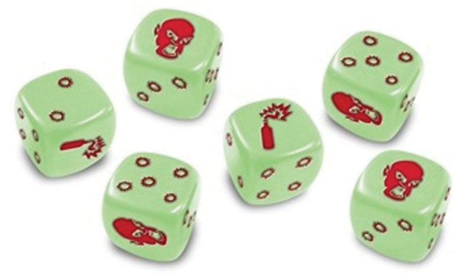 Zombicide: Dice - Glow In The Dark (blister Only) Box Front