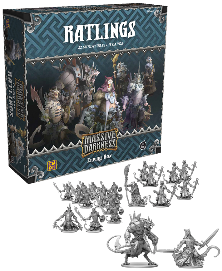 Massive Darkness: Ratlings Enemy Box Box Front