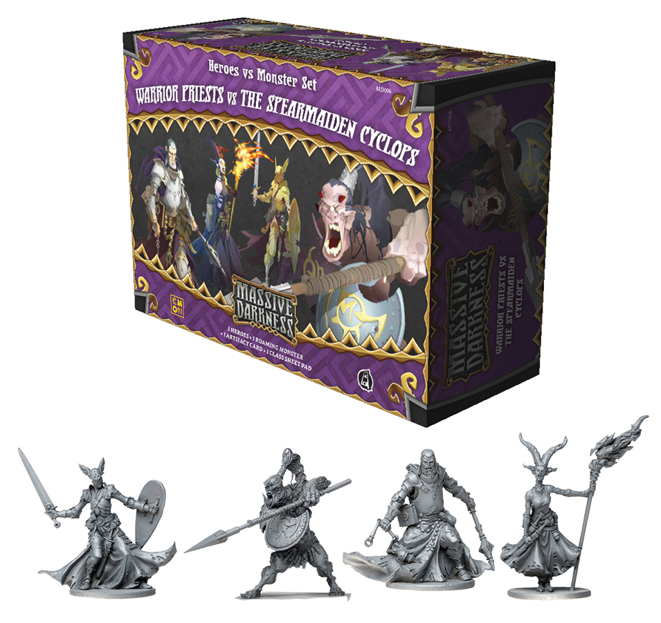 Massive Darkness: Warrior Priests Vs The Spearman Cyclops Box Front