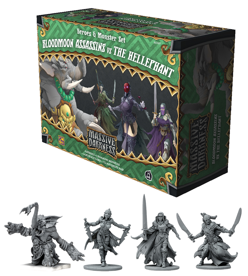 Massive Darkness: Bloodmoon Assassins Vs. The Hellephant Box Front