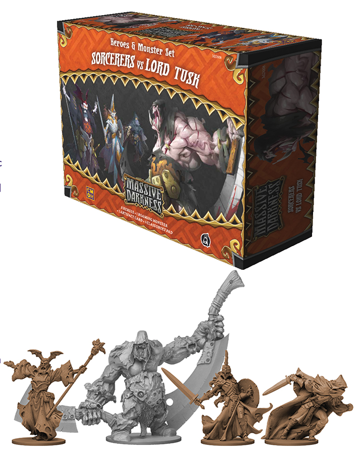 Massive Darkness: Sorcerers Vs Lord Tusk Box Front
