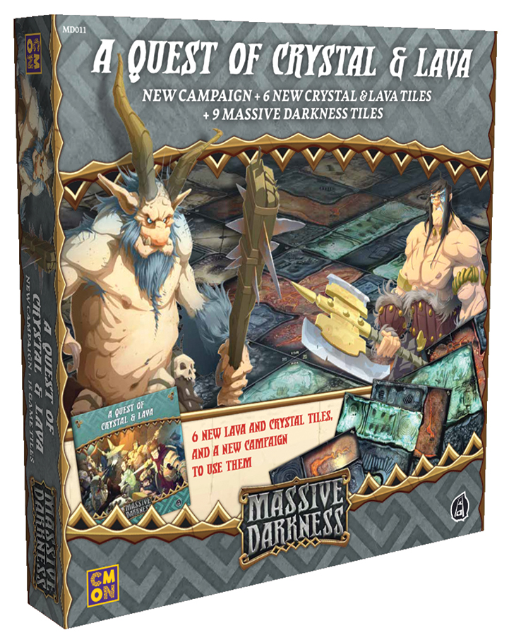 Massive Darkness: A Quest Of Crystal And Lava Box Front