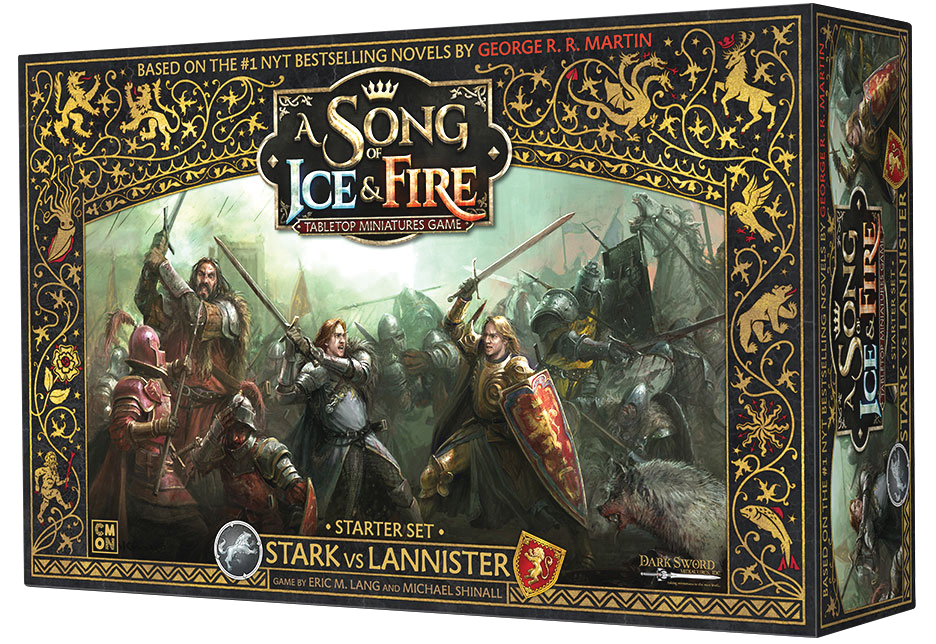 A Song Of Ice & Fire: Tabletop Miniatures Game Starter Set - Stark Vs Lannister Box Front