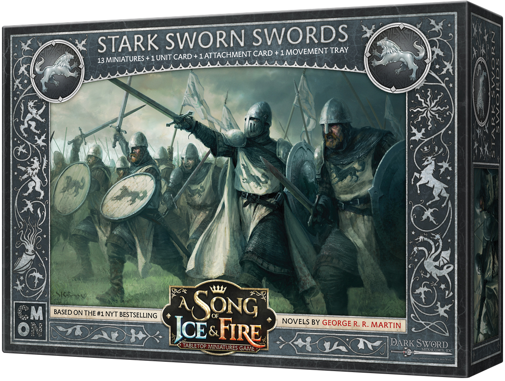 A Song Of Ice & Fire: Tabletop Miniatures Game: Stark Sworn Swords Box Front