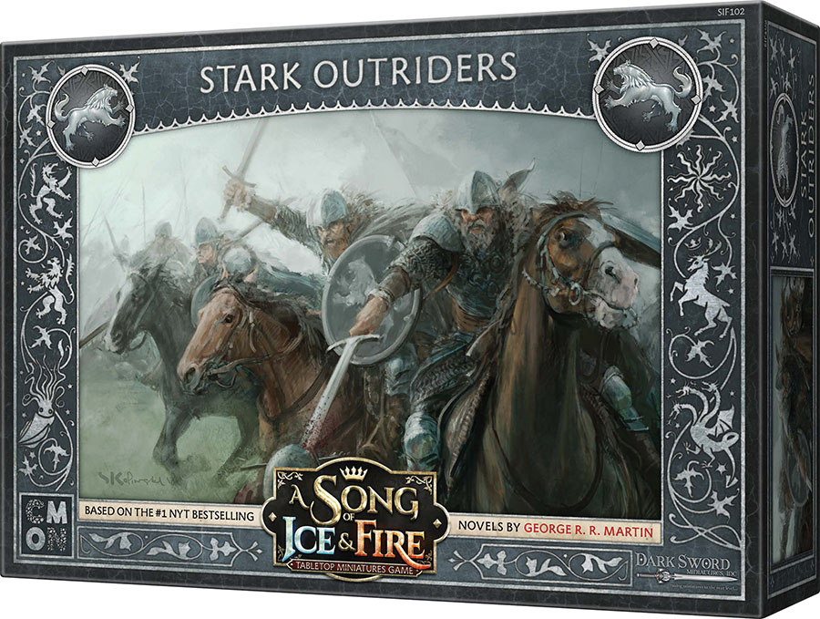 A Song Of Ice & Fire: Tabletop Miniatures Game: Stark Outriders Unit Box Game Box