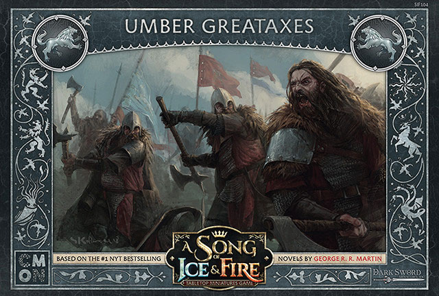 A Song Of Ice & Fire: Tabletop Miniatures Game: Stark Umber Greataxes Unit Box Game Box