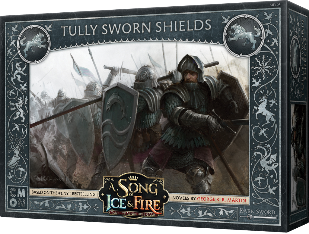 A Song Of Ice & Fire: Tabletop Miniatures Game: Tully Sworn Shields Unit Box Box Front