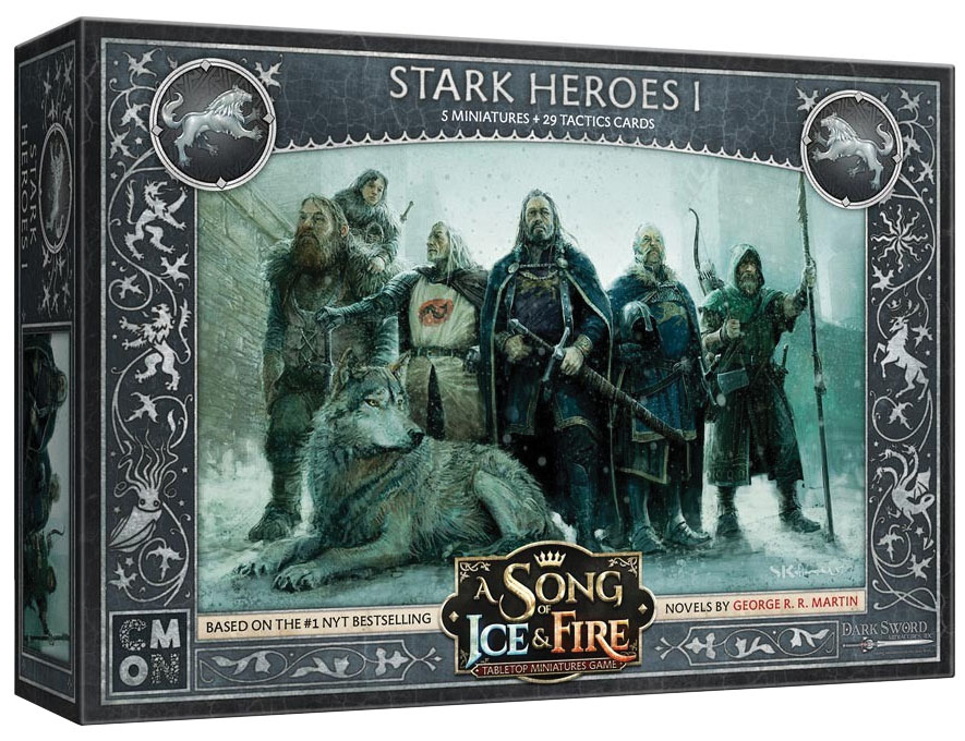 A Song Of Ice & Fire: Tabletop Miniatures Game: Stark Heroes #1 Box Front
